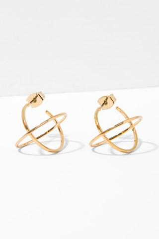 7 For All Mankind Titus Earrings In Gold