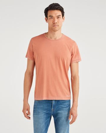 7 For All Mankind Men's Roamer Crew Tee In Hi-lo Clay