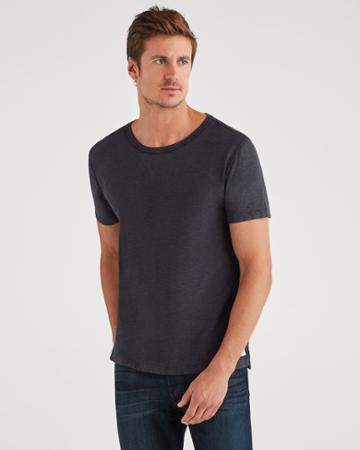 7 For All Mankind Men's Brooklyn Signature Slub Crew Tee In Black