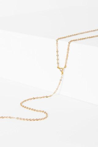 7 For All Mankind Astrid Lariat Choker In Gold