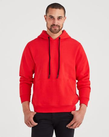 7 For All Mankind Pull Over Hoodie In Red Flame