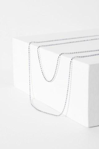 7 For All Mankind Camille Necklace In Silver