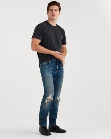 7 For All Mankind Paxtyn Skinny With Clean Pocket In Techtonic