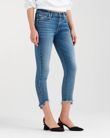 7 For All Mankind The Skinny With Frayed Kick Hem In Canyon Ranch