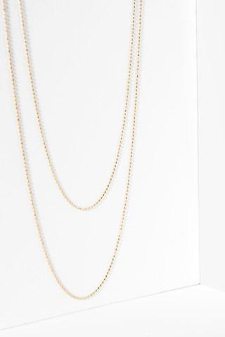 7 For All Mankind Camille Necklace In Gold