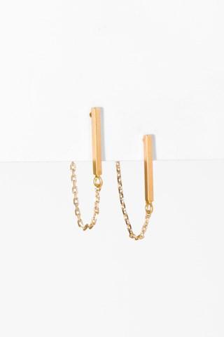 7 For All Mankind Jill Earrings In Gold