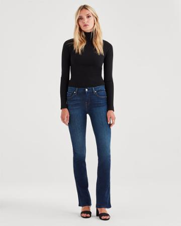 7 For All Mankind Kimmie Bootcut In Midnight Moon