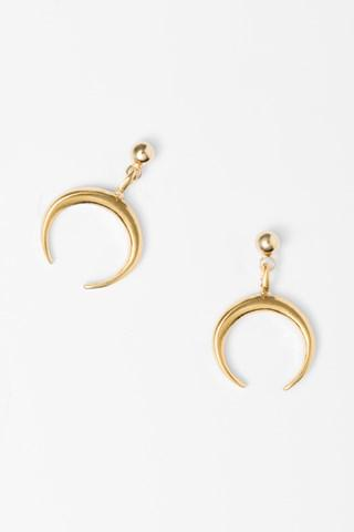 7 For All Mankind Montana Earrings In Gold