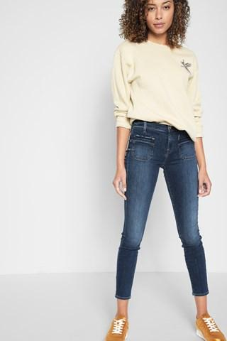 7 For All Mankind Ankle Skinny With Front Released Pockets In Stunning Bleeker 3