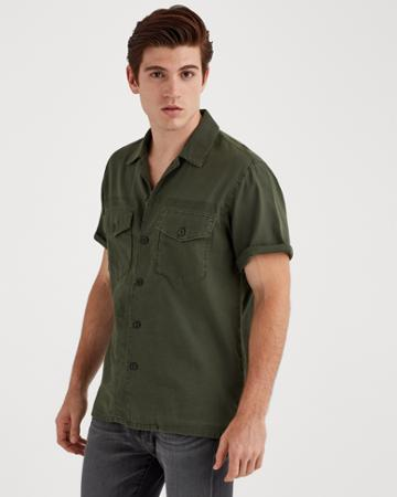 7 For All Mankind Short Sleve Military Shirt