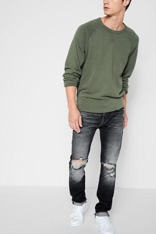 7 For All Mankind Paxtyn Skinny With Raw Flip Up Hem In Blowout