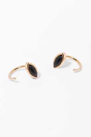 7 For All Mankind Jo Earrings In Onyx