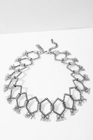 7 For All Mankind Monroe Choker In Silver