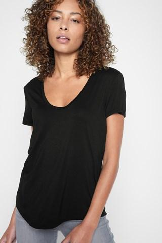 7 For All Mankind Deep U-neck Top