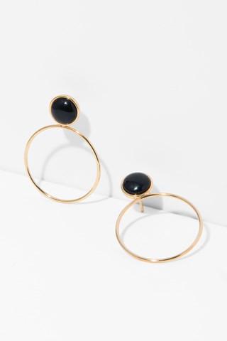 7 For All Mankind Layla Earrings In Onyx