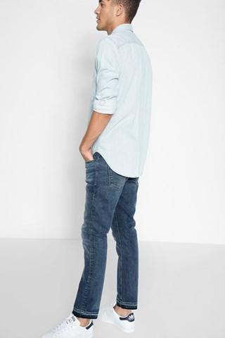 7 For All Mankind Paxtyn Skinny With Released Hem In Timelapse