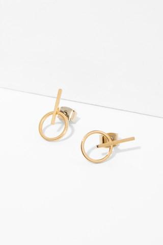 7 For All Mankind Bianca Earrings In Gold