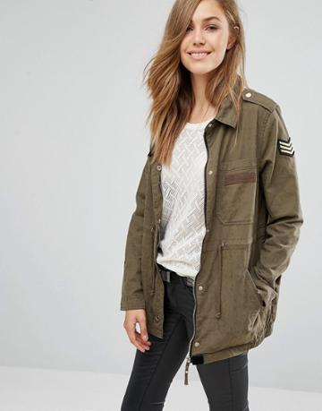 Pimkie Utility Casual Jacket - Green