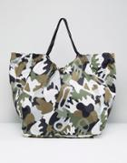 Monki Camo Shoulder Bag - Green