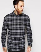 Dr Denim Shirt Tower Oversized Buttondown Check - Black Check