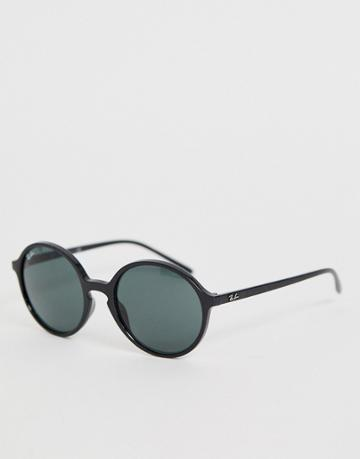Ray-ban 0rb4304 Round Sunglasses - Black
