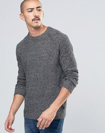 Ted Baker Salt & Pepper Knitted Sweater - Charcoal
