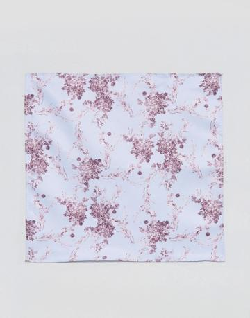 Asos Pocket Square In Floral Print - Blue