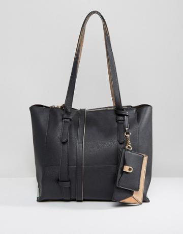 Oasis Shopper Bag With Detachable Purse - Black