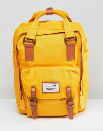 Doughnut Macaroon Backpack In Mustard - Yellow