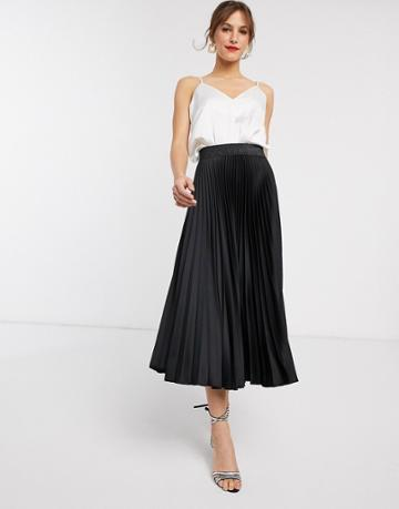Closet London Pleated Skirt In Black