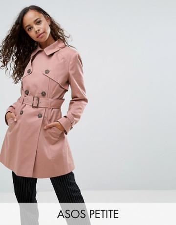 Asos Petite Classic Trench - Pink