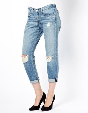 Rag & Bone/jean Boyfriend Jeans With Rips