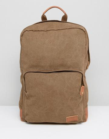 Esprit London Backpack In Canvas - Gray