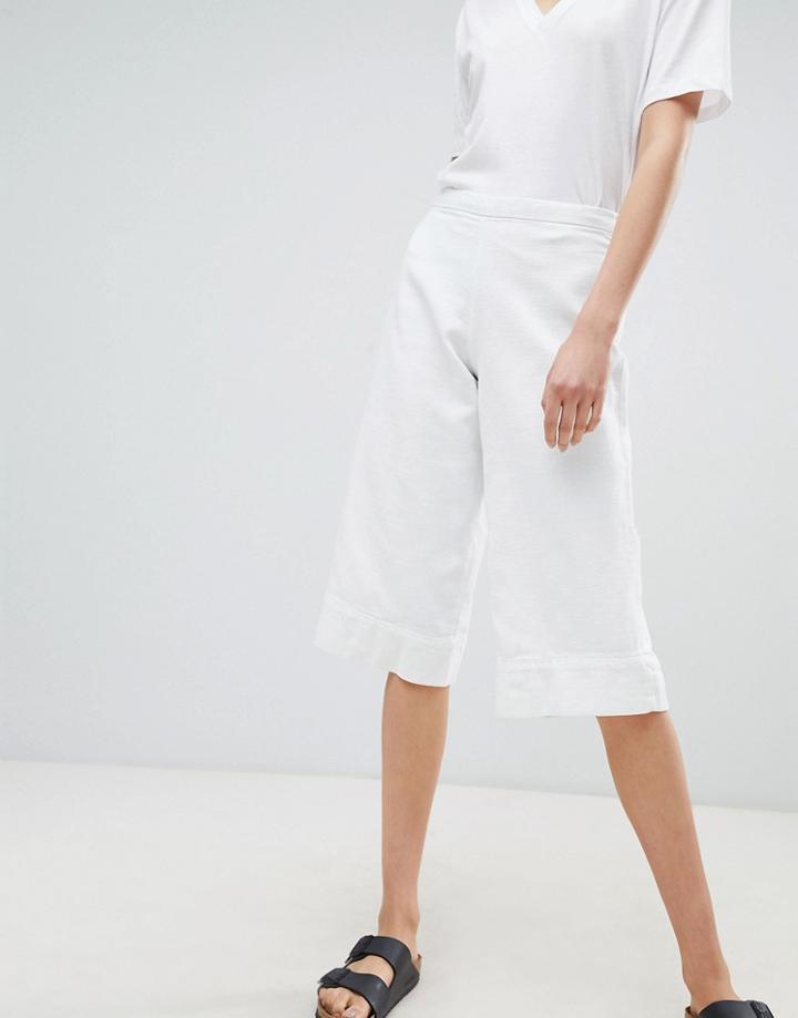 Waven Vera Denim Culottes - White