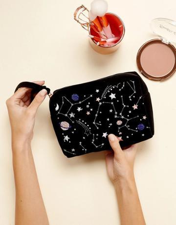 New Look Cosmic Cosmetic Bag - Black