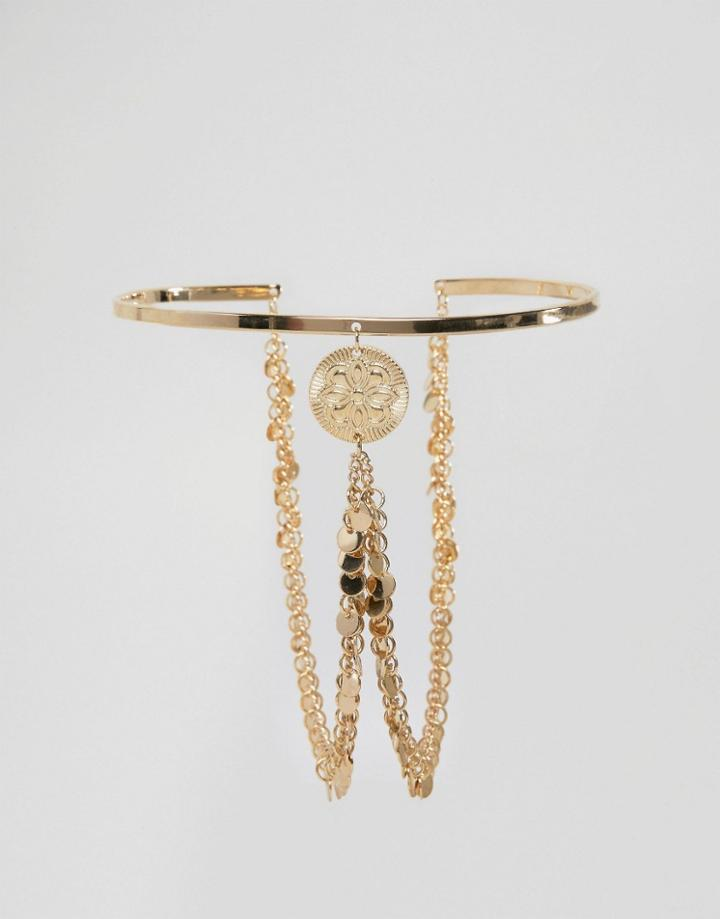 Asos Draping Coin Arm Cuff - Gold