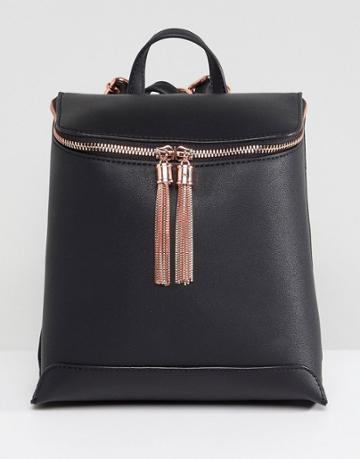 Asos Tassel Backpack - Black