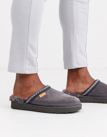 Ugg Tasman Slippers In Gray Suede