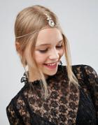 Asos Crystal Hair Crown - Gold