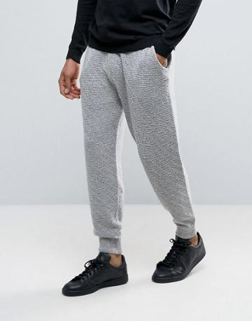 Asos Knitted Joggers With All Over Texture - Gray