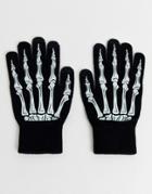 Asos Design Skeleton Halloween Touchscreen Gloves