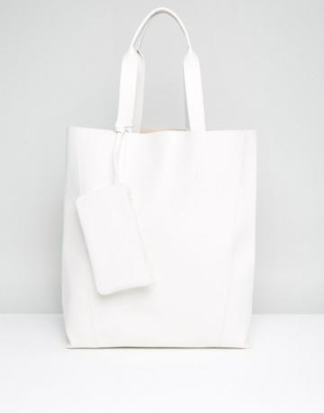 Asos Oversized Shopper Bag - White