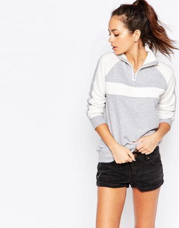 New Look Track Zip Jacket - Gray