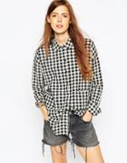Asos Gingham Check Shirt - Mono