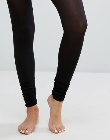 Asos 50 Denier Ruched Footless Tights - Black