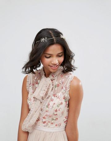 Asos Occasion Crystal Wire Hair Crown - Gold