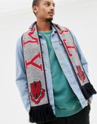 Tommy Jeans Soccer Scarf In Gray - Gray