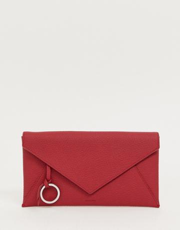 Allsaints Voltaire Envelope Pouch - Red