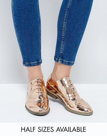 Asos Mayhem Brogues - Gold