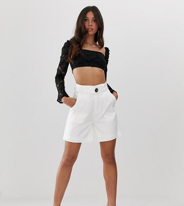 Missguided City Shorts In White - White